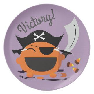 Plato Halloween adaptable - valor del pirata