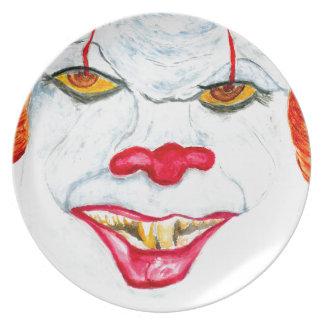 Plato Halloween Clown2 asustadizo