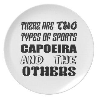 Plato Hay dos tipos de deportes Capoeira y otros
