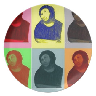 Plato Homo de Ecce - estilo del arte pop