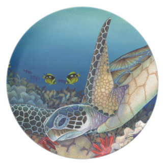 Plato Honu (tortuga de mar verde)