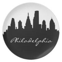 Horizonte blanco y negro de Philadelphia