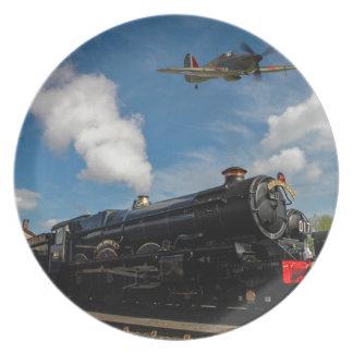 Plato Huracanes y tren del vapor