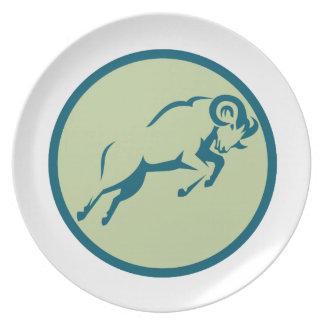 Plato Icono de salto del círculo de las ovejas de