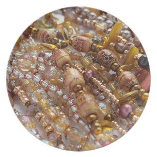 Plato Impresión de bronce de las gotas de Earthtones de