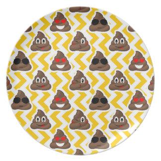 Plato Impulso amarillo Emojis del zigzag