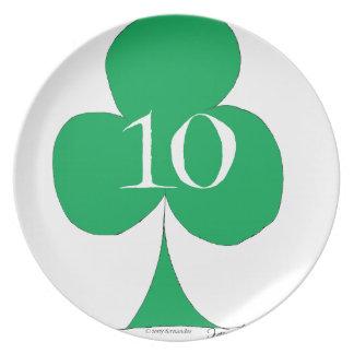 Plato Irlandés afortunado 10 de los clubs, fernandes