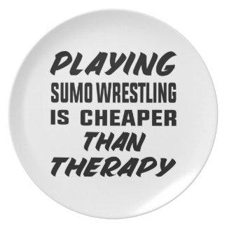 Plato Jugar la lucha de sumo es más barato que terapia
