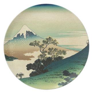 Plato Koshu Inume Toge - arte de Katsushika Hokusai