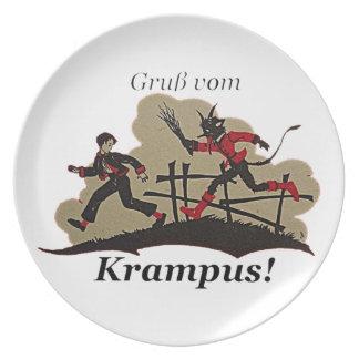 Plato Krampus persigue al niño