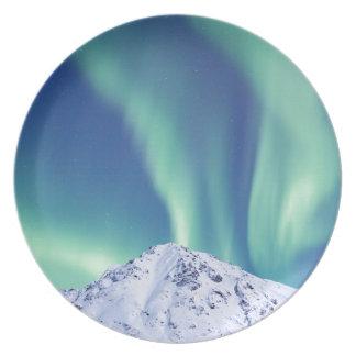 Plato La aurora boreal