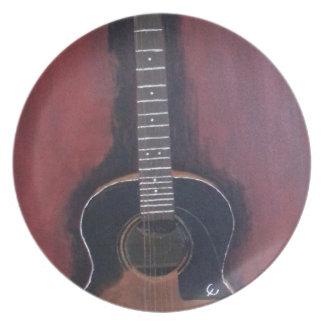 Plato La guitarra de Ryan