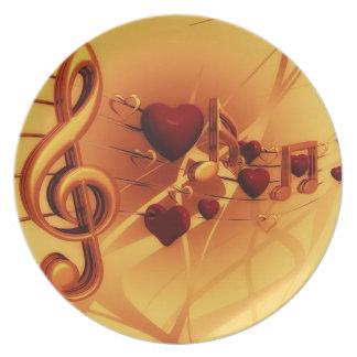 Plato La música del amor: Placa de encargo