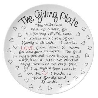Plato La placa de donante