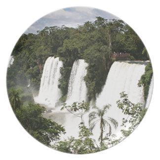 Plato Las cataratas del Iguazú, la Argentina, Suramérica