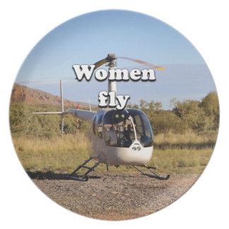 Plato Las mujeres vuelan: Helicóptero 2 (blancos)