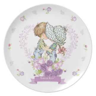 Plato Lavanda de la placa #3 de la porcelana de Sarah