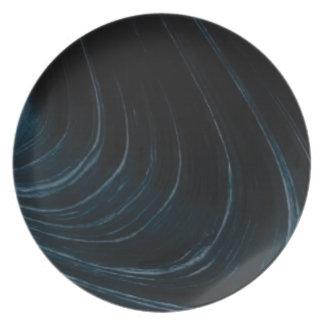 Plato Línea de flujo ondulada