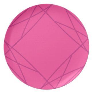 Plato Línea geométrica magenta brillante modelo