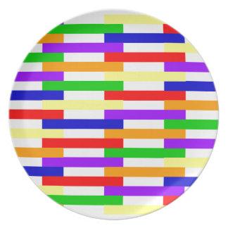 Plato Línea multicolora diseño