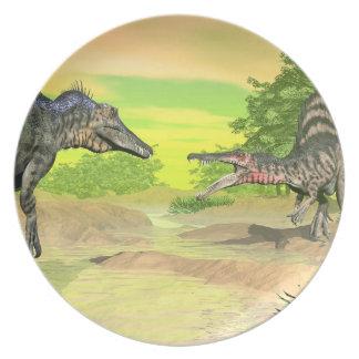 Plato Lucha de los dinosaurios de Spinosaurus - 3D