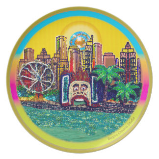 Plato Luna Park Sydney Australia por la lentejuela soña
