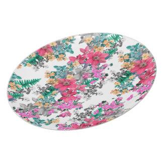 Plato Luz rosada de la flora por Zala Farah