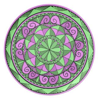 Plato Mandala del añil