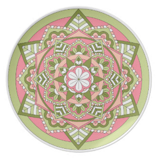 Plato Mandala floral coloreada 061117_1