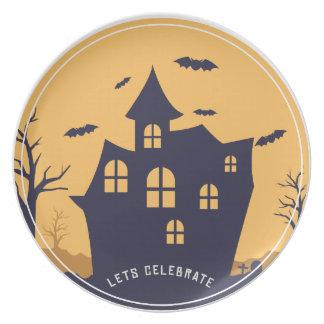 Plato Mansión y palos fantasmagóricos de Halloween