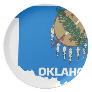Plato Mapa de la bandera de Oklahoma