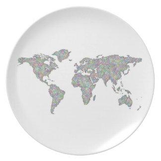 Plato Mapa del mundo