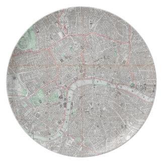 Plato Mapa del vintage de la ciudad de Londres