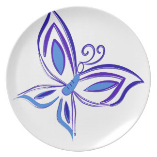 Plato Mariposa azul