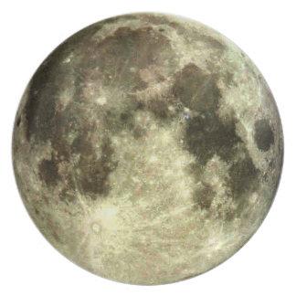 Plato Melamina de la Luna Llena
