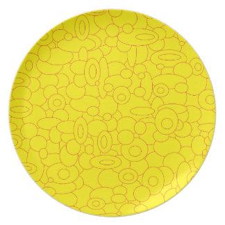 Plato Melaminteller de circles