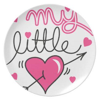 Plato Mi pequeño, corazón, niño, amor