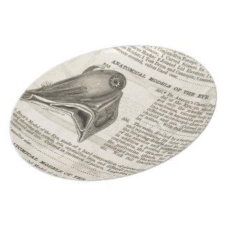 Plato Modelo anatómico del ojo