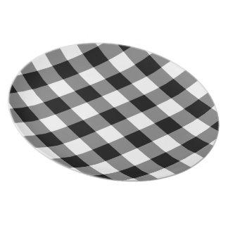 Plato Modelo blanco y negro de la guinga