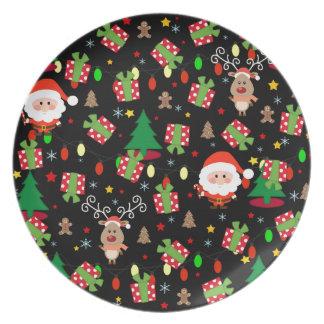 Plato Modelo de Santa y de Rudolph