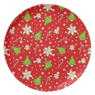 Plato Modelo del navidad de las galletas del jengibre