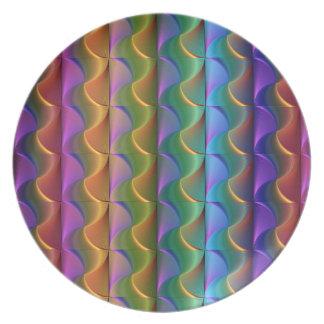 Plato Modelo psicodélico colorido brillante