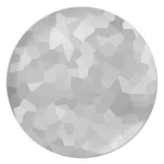Plato Moderno - extracto gris y blanco de la forma del