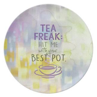 Plato Monstruo del té - golpéeme con su mejor pote