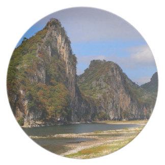 Plato Montañas a lo largo del río de Li, China