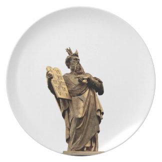 Plato Moses y diez mandamientos de oro