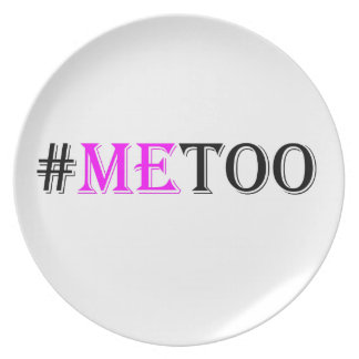 Plato Movimiento del #METOO para las derechas para mujer