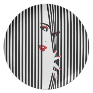 Plato Mujer de la ojeada (blanca)