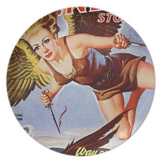 Plato Mujer del vuelo