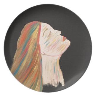 Plato Mujer multicolora